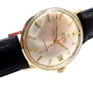 Authentic! Omega Seamaster 14k Yellow Gold Automatic