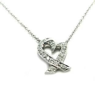 Tiffany & Co Platinum Crossover Loving Heart Diamond