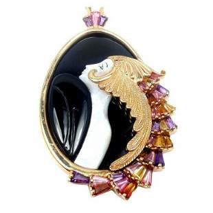 Authentic ERTE Beauty Of The Beast 14k Yellow Gold