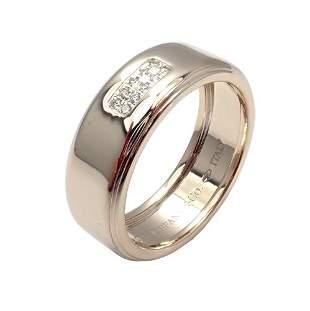Tiffany & Co 18k White Gold 2004 Diamond 8mm Band Ring