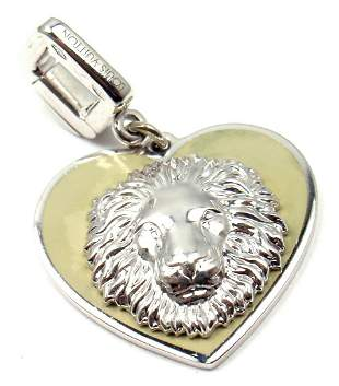 RARE!  LOUIS VUITTON 18K WHITE GOLD BE WELL LION
