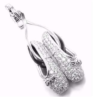 Rare! Authentic Louis Vuitton 18k White Gold Diamond
