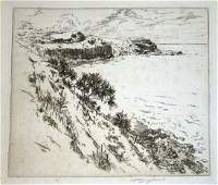 1920 Hawaii Print Cliff Kalihiwai Kauai Huc M Luquiens