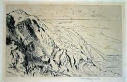 1920 Hawaii Print Cliffs Waimanalo Oahu Huc M Luquiens