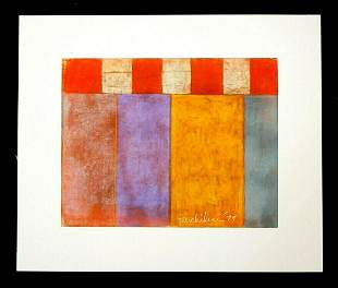 1979 Hawaii Modernist Painting Harry Suyemi Tsuchidana