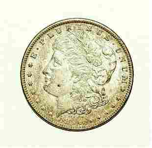 1896 US Morgan Silver Dollar - Tarnished