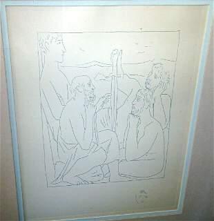 74 Spanish Print Nestors Tales Trojan War Pablo Picasso