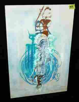 2010 French Painting Fragments Nomades Serge Mansau
