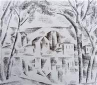 Abstract pencil painting Landscape Peter Tovpev