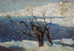 Oil painting Cold day Stremsky Alexander Ivanovich