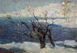 Oil painting Cold day Stremsky Alexander Ivanovich