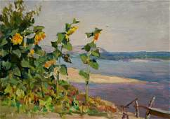 Oil painting Sunflowers Glushchenko Nikolay Petrovich