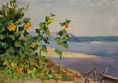 Oil painting Sunflowers Glushchenko Nikolay Petrovich