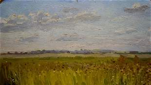 Oil painting Landscape fields