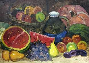 Oil painting Still life Katz Adam Zakharovich
