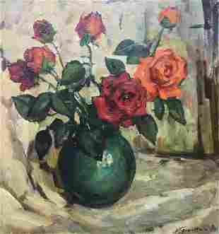 Oil painting Red roses