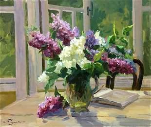 Oil painting Morning mood Mykola Fedorovych Chulko
