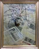 Oil painting Flower on the table Spornikov Boris
