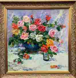 Oil painting Still life Tamara Aleksandrovna Khitrova