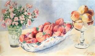 Watercolor painting Still life Yaremchenko I. P.