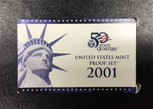 2001 United States Mint Proof Set