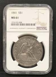 1841 Seated Liberty Trade $1