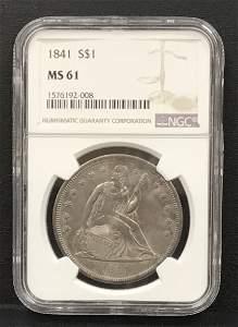 1841 Seated Liberty Trade $1