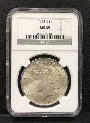 1923 Peace Silver Dollar $1