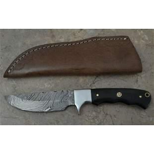 Hiking damascus steel knife sharp hand