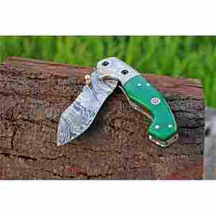 Chef damascus steel knife full tang tracker resin