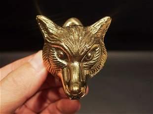 Small Solid Brass Fox Door Knocker Hardware