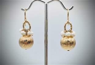 Earrings w Beaded Pearls