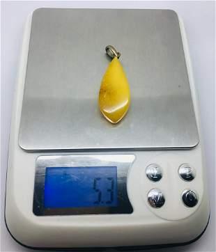 Splendid Amber Pendant shaped like a Drop