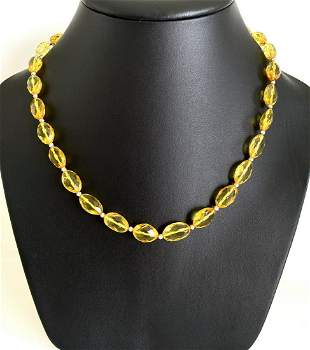 Splendid Amber Necklace made from Hand Carved Amber