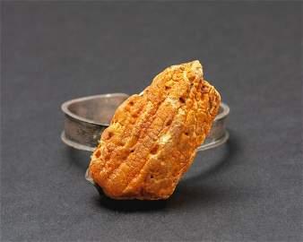 Natural Baltic amber & sterling silver ag925 bracelet