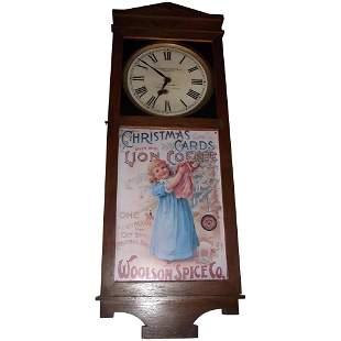 "Rare ""Woolson Spice Company * Toledo,Ohio"" Clock"