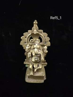 Ganesha statue in bronze