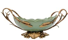 Ceramic bowl with bronze ornaments - Lily - Boho Chic