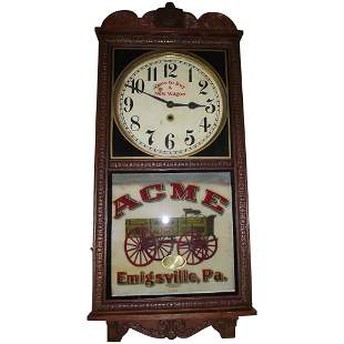 "Rare ""Acme Wagon"" Advertising Clock made by the Wm."