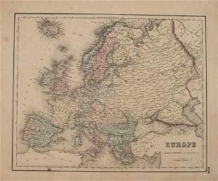 1855 Colton Map of Europe -- Europe