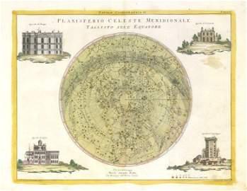 """Planisferio Celeste Meridionale"" Southern hemisphere"