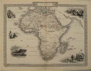 1851 Tallis Map of Africa -- Africa