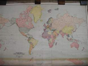 Stanford's New Library chart of the World 1920