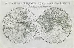 Mappa Mondo. World in twin hemispheres. Insular