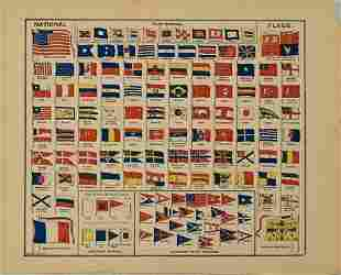 1896 Cram/Smith National Flags -- National Flags