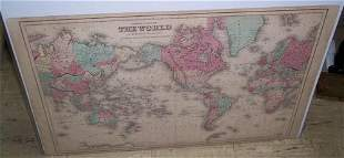 Colton's Map of the World On Mercator's Projection...