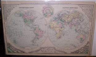 New Map of the World in Hemispheres,