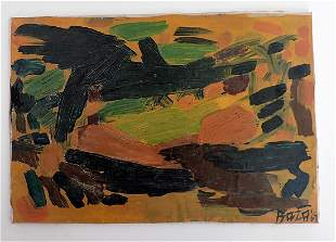 Syed Haider Raza - abstract painting 1969