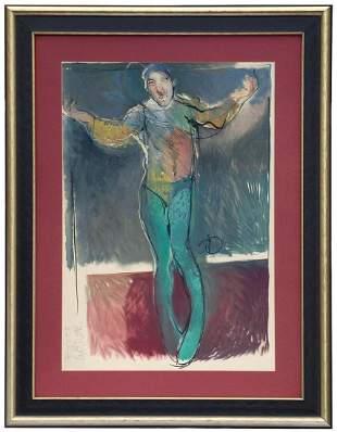"Acrobat: Large Painting initialed ""CV"""