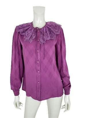 Valentino Purple silk Blouse